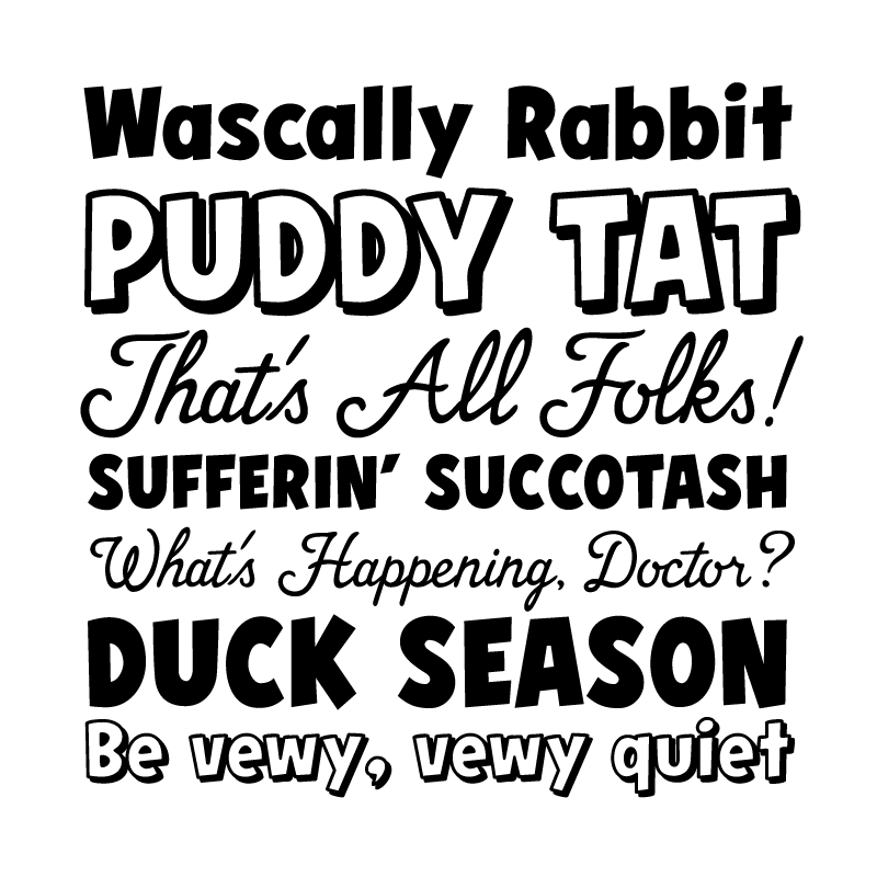 Looney Tunes Dash fonts