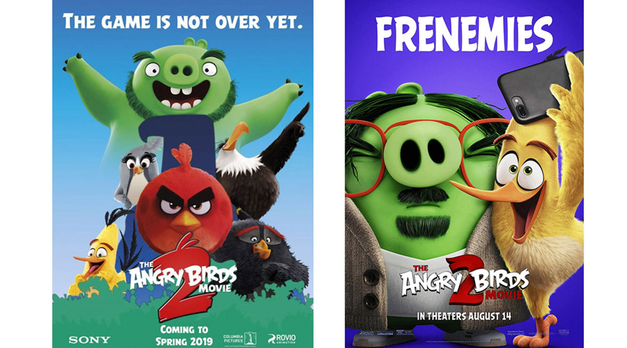 Angry Birds movie ads