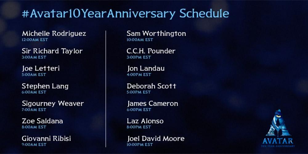 Avatar 10 year anniversary