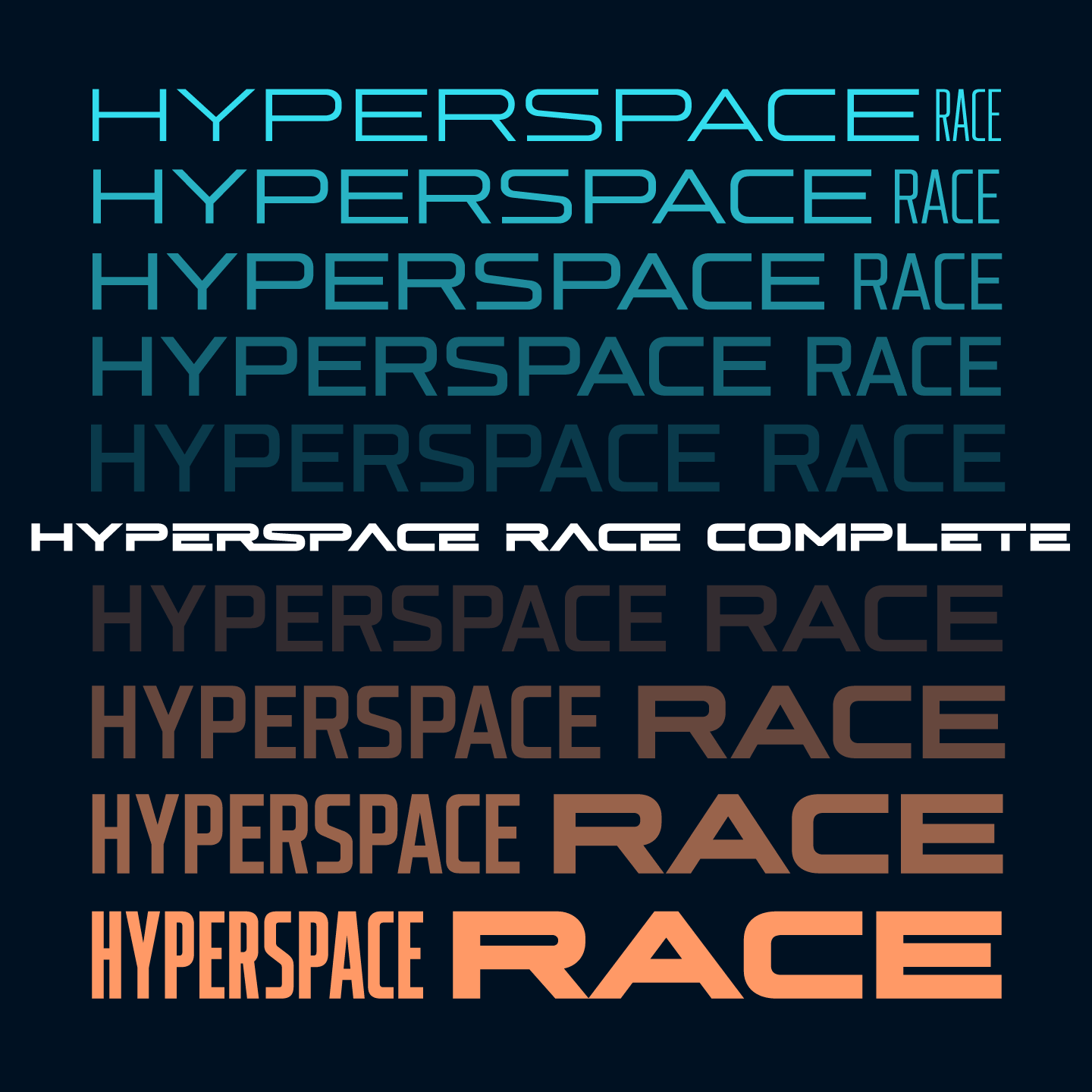 Hyperspace Race Complete