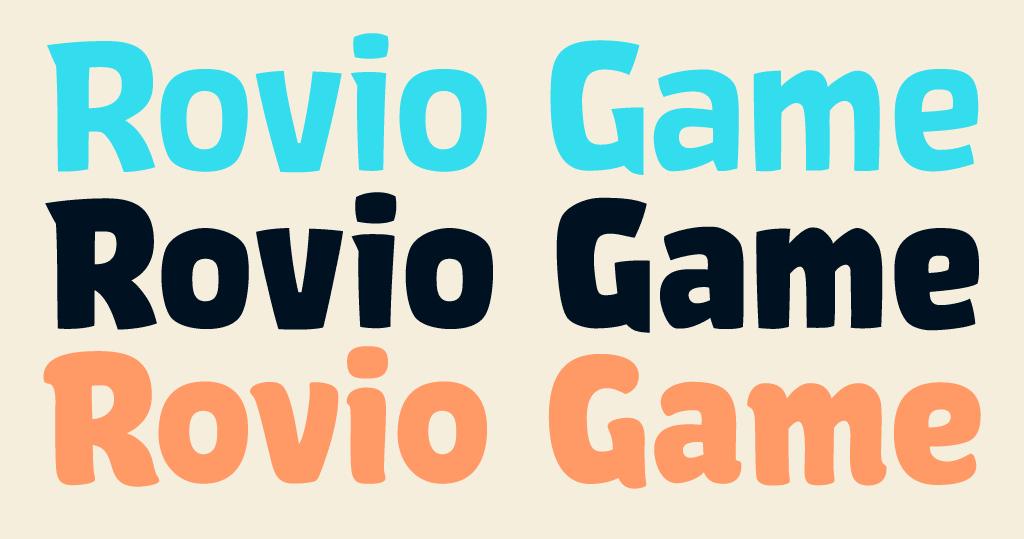 Rovio Game fonts