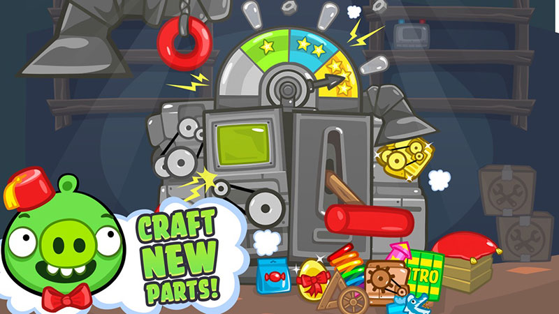 Bad Piggies craft new parts