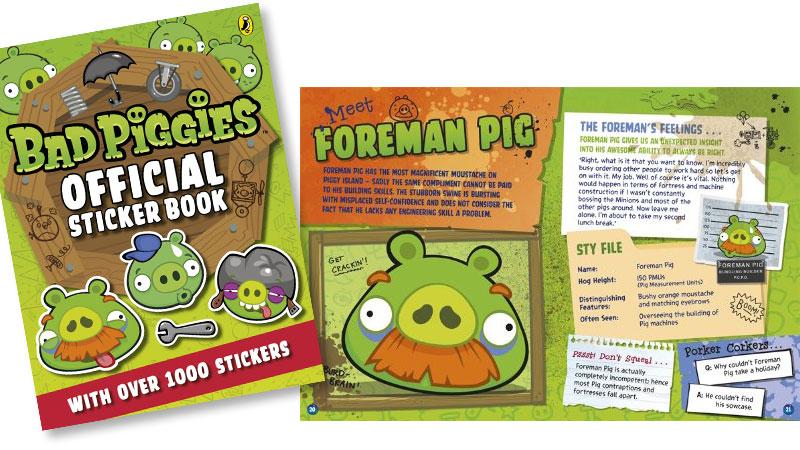 Bad Piggies sticker book
