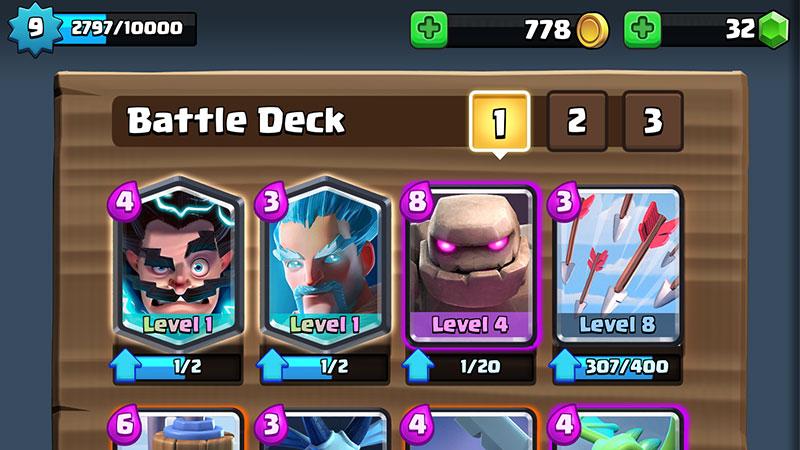 Clash battle deck