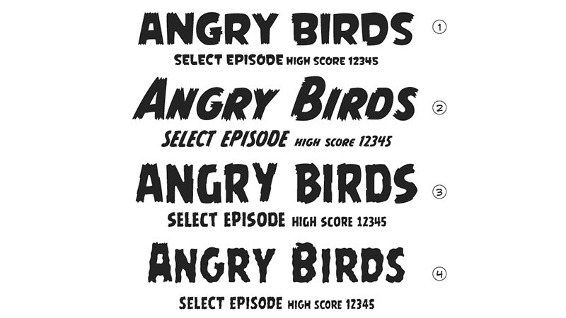 Angry Birds samples