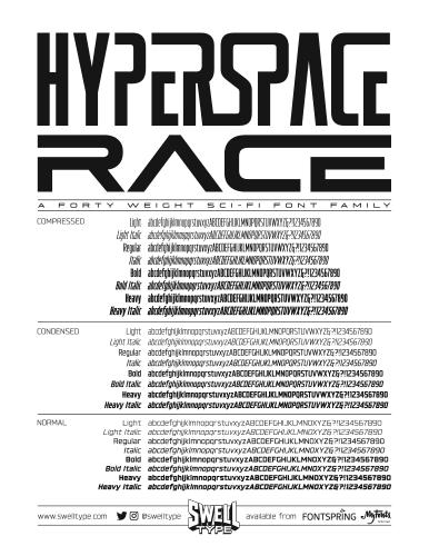 Hyperspace Race spec sheet