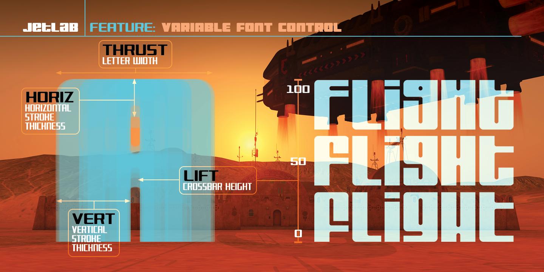 Jetlab variable font