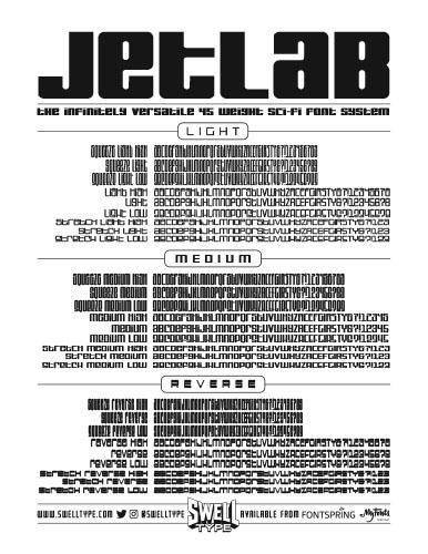 Jetlab spec sheet